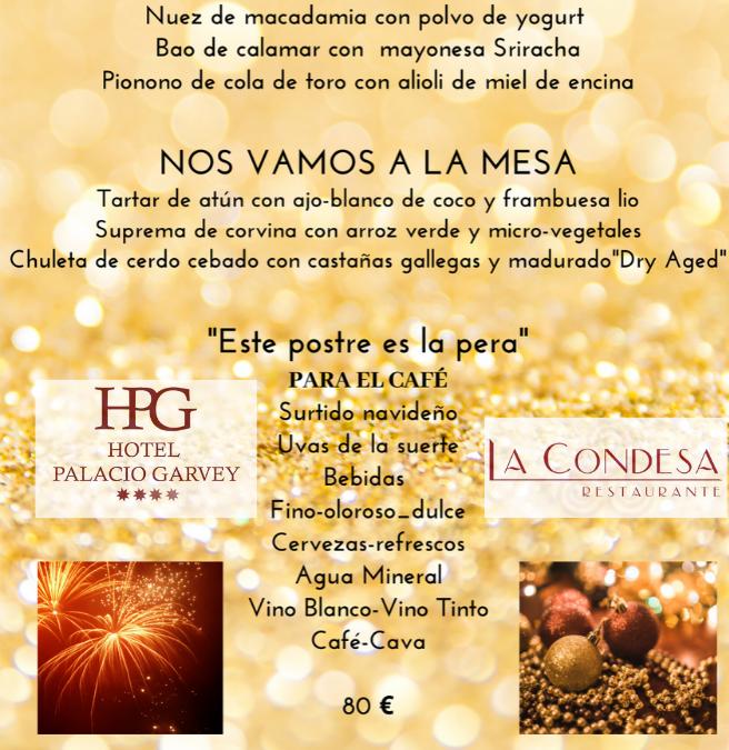 Menú Fin de Año 2019 en Hotel Palacio Garvey Jerez